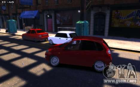 Lada Kalina 2 para GTA 4 visión correcta