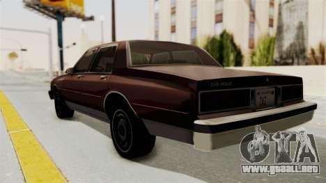 Chevrolet Caprice 1987 v1.0 para GTA San Andreas left