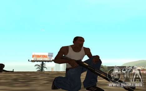 Golden weapon pack para GTA San Andreas sucesivamente de pantalla