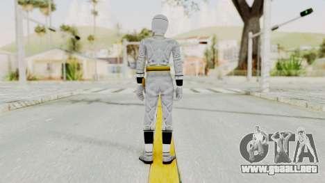 Alien Rangers - White para GTA San Andreas tercera pantalla