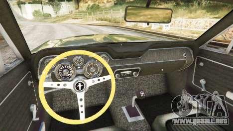 GTA 5 Ford Mustang 1968 vista trasera