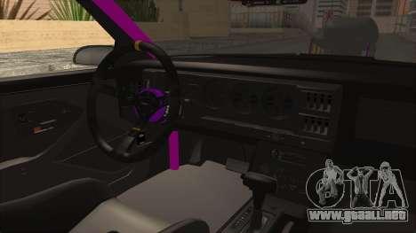 Pontiac Firebird 1982 Trans Am Drag para visión interna GTA San Andreas
