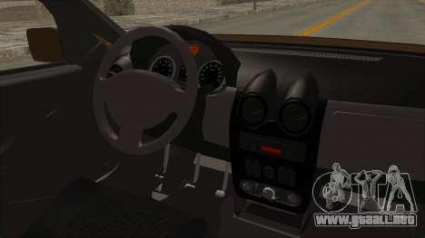 Dacia Logan MCV Van para visión interna GTA San Andreas