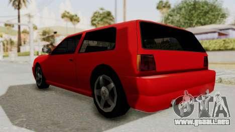 Flash Sport para GTA San Andreas vista posterior izquierda