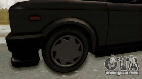 Zastava 128 para GTA San Andreas vista hacia atrás