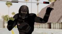 Mass Effect 2 Shepard Default N7 Armor Helmet para GTA San Andreas