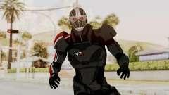 ME2 Shepard Default N7 Armor Recoon Hood Helmet para GTA San Andreas