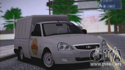 Lada Priora Stok Budka para GTA San Andreas
