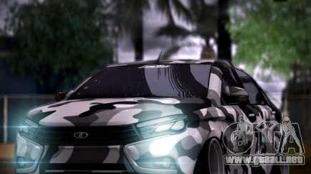 Lada Vesta Camouflage para GTA San Andreas