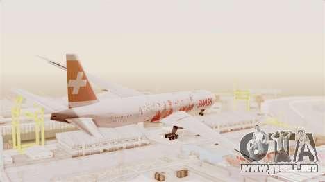 Boeing 777-300ER Faces of SWISS Livery para la visión correcta GTA San Andreas