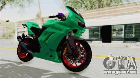 Kawasaki Ninja 250R Race para la visión correcta GTA San Andreas