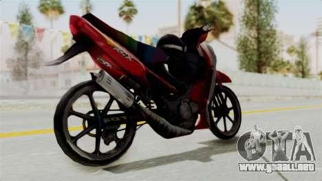Suzuki RGX 120 para GTA San Andreas left