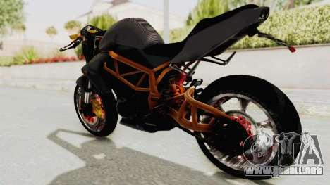 Kawasaki ER 6N Superbike para GTA San Andreas left