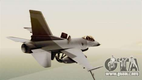 F-16 Fighting Falcon para GTA San Andreas left