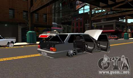 VAZ 2115 Vossen para GTA 4 vista hacia atrás