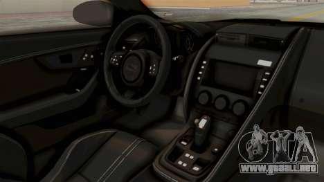 Jaguar F-Type L3D Store Edition para visión interna GTA San Andreas
