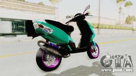 Piaggio 200 CC Lockstyle para GTA San Andreas left