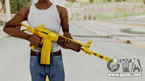 Galil Gold para GTA San Andreas tercera pantalla