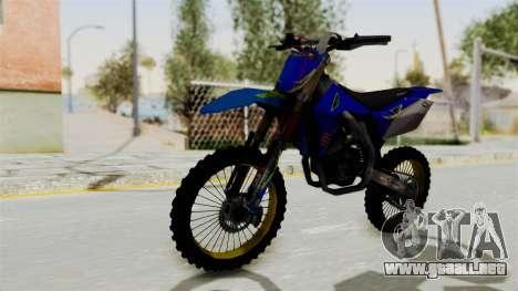 Suzuki RMZ 450 Gendarmerie v0.1 para la visión correcta GTA San Andreas