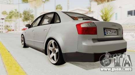 Audi A4 2002 Stock para la visión correcta GTA San Andreas