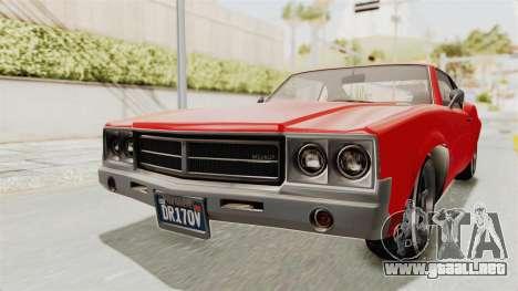 GTA 5 Declasse Sabre GT2 IVF para la visión correcta GTA San Andreas