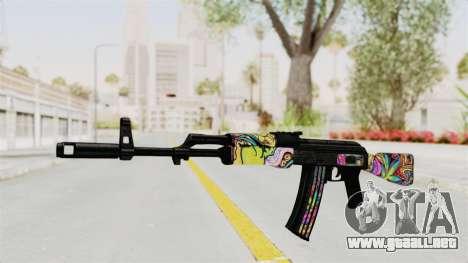 AK-47 Cannabis Camo para GTA San Andreas