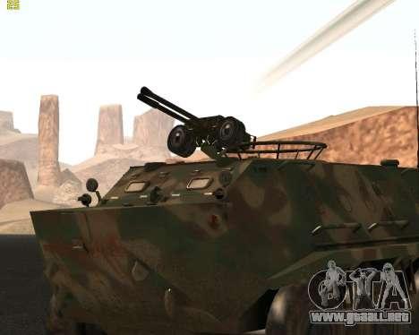 BTR 60 PA para GTA San Andreas vista posterior izquierda