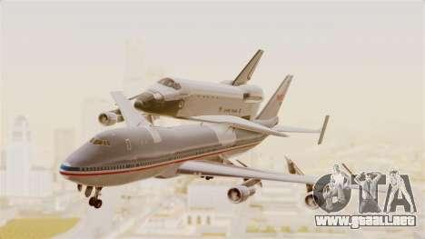 Boeing 747-123 Space Shuttle Carrier para GTA San Andreas