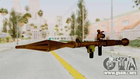 Rocket Launcher Gold para GTA San Andreas segunda pantalla