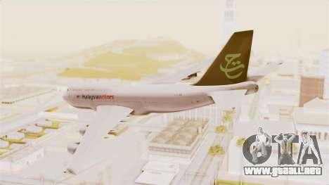 Boeing 747-400 Malaysia Airlines Tabung Haji para GTA San Andreas left
