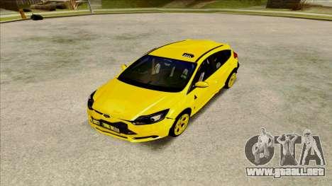 Ford Focus Taxi para la visión correcta GTA San Andreas