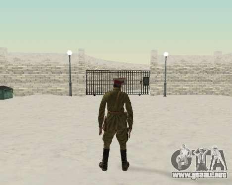 Pak combatientes del ejército rojo para GTA San Andreas sucesivamente de pantalla