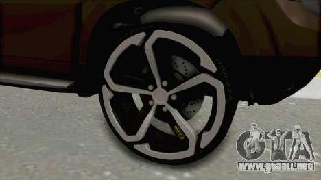 Dacia Duster 2010 Tuning para GTA San Andreas vista hacia atrás