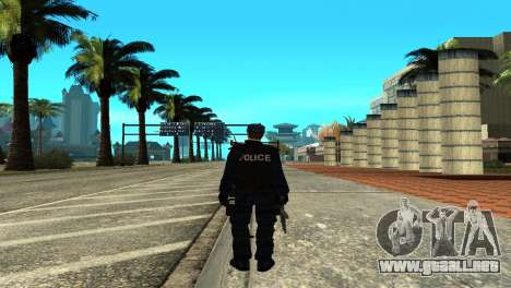 Police SWAT Skin for GTA San Andreas para GTA San Andreas tercera pantalla