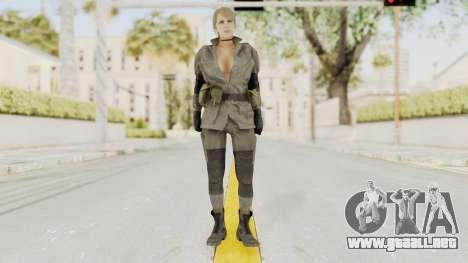MGSV Phantom Pain Quiet Sniper Wolf para GTA San Andreas segunda pantalla