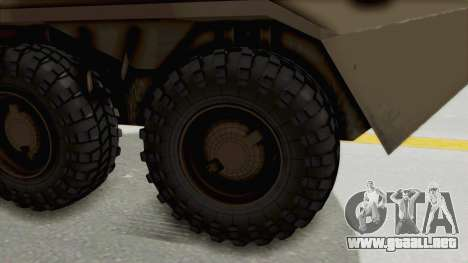 BTR-80 Desert Turkey para GTA San Andreas vista hacia atrás
