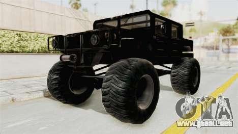 Hummer H1 Monster Truck TT para la visión correcta GTA San Andreas