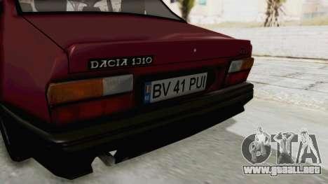 Dacia 1310L 1997 para visión interna GTA San Andreas
