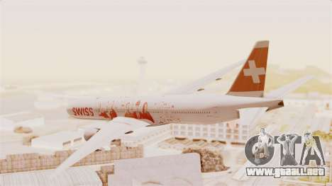 Boeing 777-300ER Faces of SWISS Livery para GTA San Andreas left
