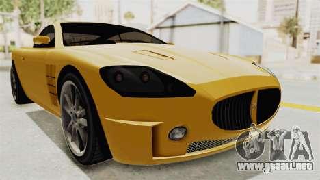GTA 5 Ocelot F620 SA Lights para GTA San Andreas vista posterior izquierda