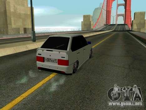 VAZ 2114 KBR para visión interna GTA San Andreas