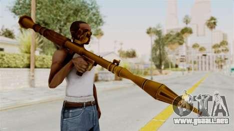 Rocket Launcher Gold para GTA San Andreas