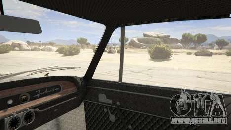 GTA 5 Lancia Fulvia vista lateral trasera derecha