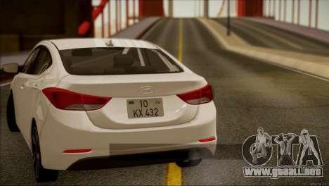 Hyundai ELANTRA 2015 STOCK para visión interna GTA San Andreas