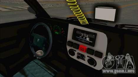 Tofas Dogan SLX Koni para visión interna GTA San Andreas