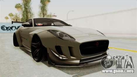 Jaguar F-Type L3D Store Edition para la visión correcta GTA San Andreas