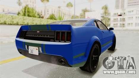 GTA 5 Vapid Dominator v2 IVF para GTA San Andreas vista posterior izquierda