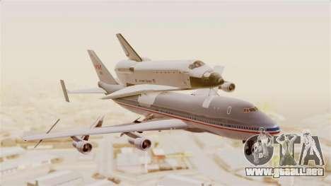 Boeing 747-123 Space Shuttle Carrier para GTA San Andreas vista posterior izquierda