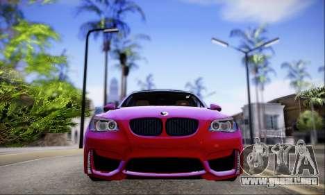 BMW M5 E60 Huracan para GTA San Andreas vista posterior izquierda