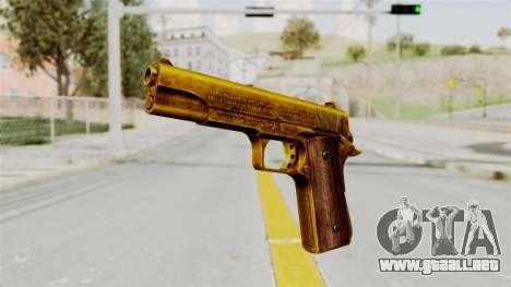 M1911 Gold para GTA San Andreas segunda pantalla